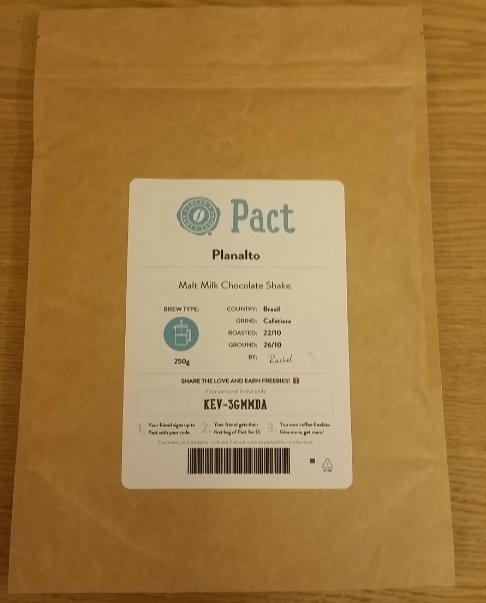 Pact Coffee Pouch. Best Coffee Subscription UK?