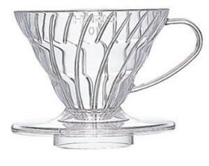 V60 filter coffee maker.