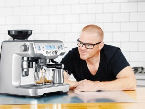 Heston Blumenthal With The Oracle Espresso Machine.