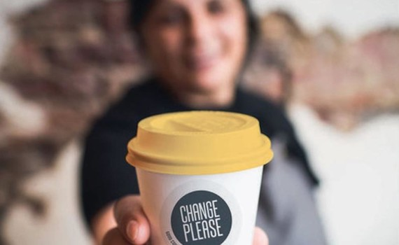 Big Issue Supporting Change Please Coffee Carts.