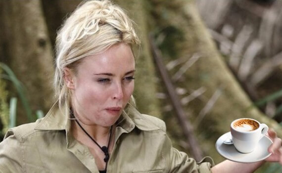 Jorgie Porter With an Imaginary Espresso Macchiato.