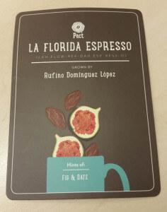 Pact Coffee La Florida Espresso