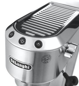 A cup wamer on a budget espresso machine!