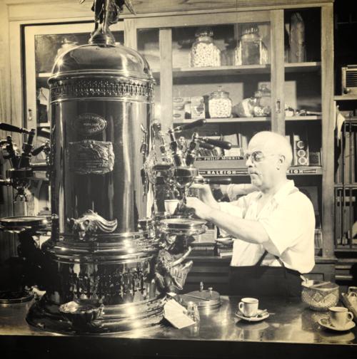Early Espresso Machine.