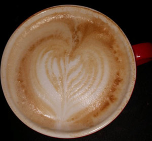 Latte art with gaggia classic.