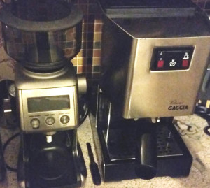 Smart grinder pro next to gaggia classic