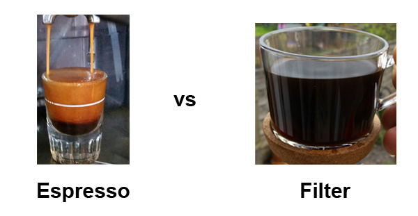 Espresso Vs Filter Coffee.