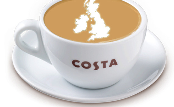 Costa Coffee Locations.