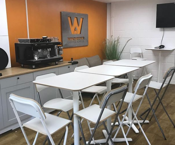 Home barista courses at Winchester Coffee School.
