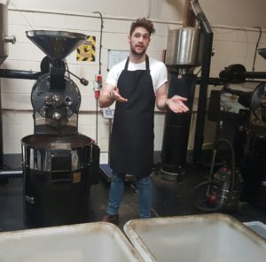 Roasting Speciality Coffee at Adams & Russell.