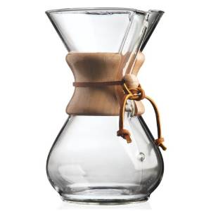 Chemex filter coffee brewer,