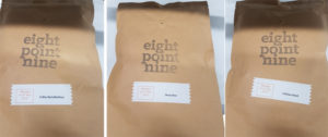 Eight Point Nine Coffee Blends.