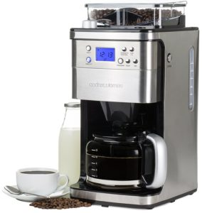 Andrew James Programmable Filter Coffee Machine with Integrated Bean Grinder