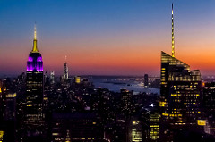 Manhattan from the Rockefeller Centre.