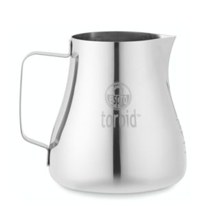 Toroid 2 milk frothing jug.  Latte Art Tips.