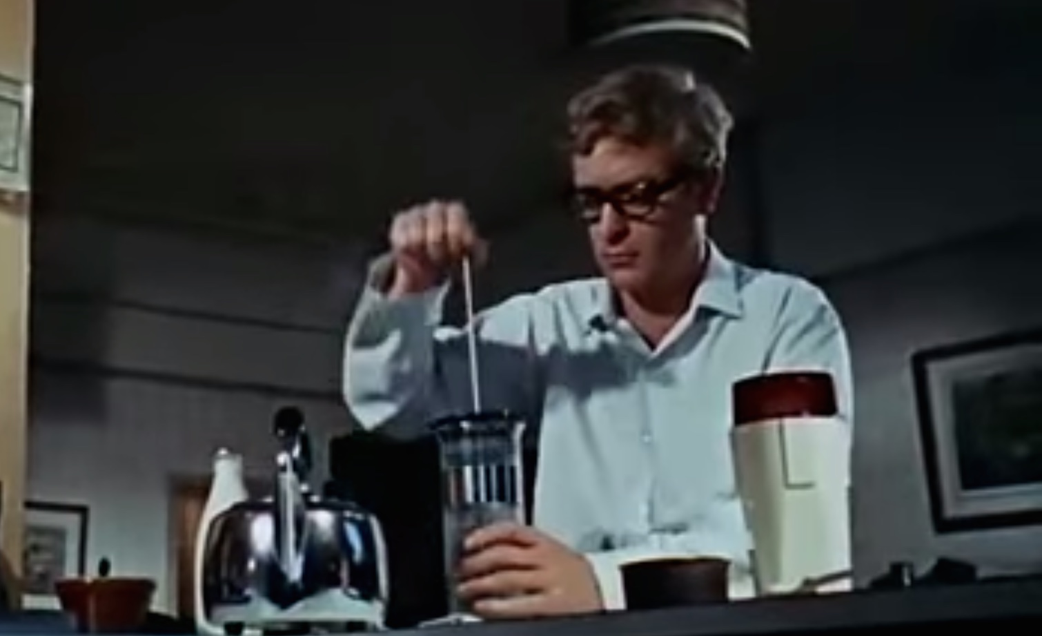 Cafetiere in movie Ipcress File.