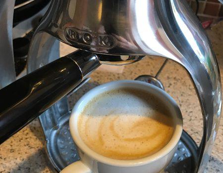 Cappuccino with ROK espresso maker