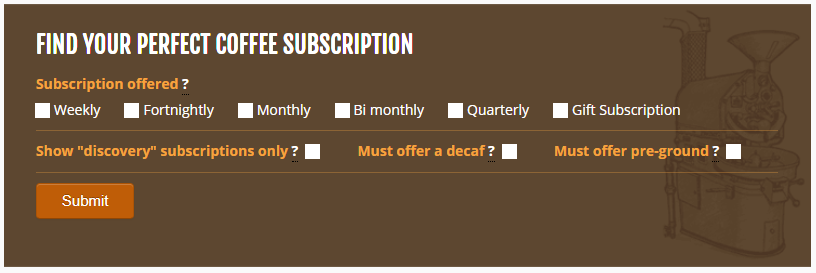 coffee subscriptions directory