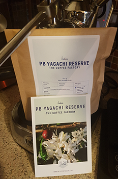 PB Yagachi Reserve Coffee from Blue Coffee Box.