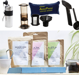 Win Aeropress and Porlex Mini Travel Package