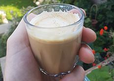 Cappuccino via Staresso manual espresso maker.