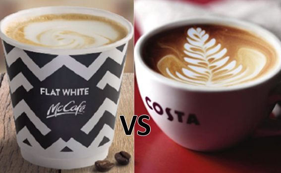 Costa flat white vs Mcdonald's flat white