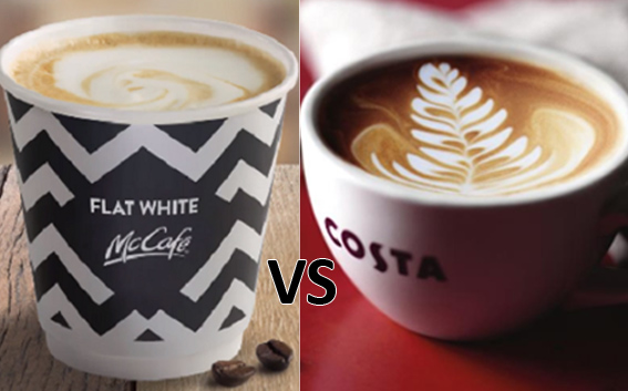 Costa Flat White Vs Mcdonalds Clash Of The Whiteans