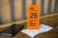 Cafe counter service order number.
