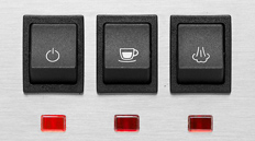 Gaggia classic 2018 rocker switches buttons steam and Espresso switched positions.