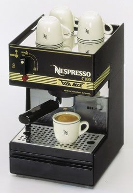 The First Production Nespresso Machine, the Nespresso C100.